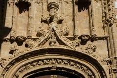 在一个老门面的装饰 卡约埃尔考斯de弗隆特里la 库存图片