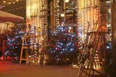 在一个自助食堂的圣诞节装饰在布达佩斯 免版税图库摄影