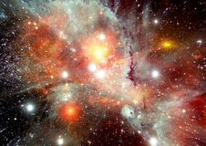 在一个自由空间的星系 免版税库存图片