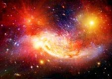 在一个自由空间的星系 向量例证