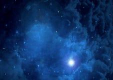 在一个自由空间的星系 免版税库存照片