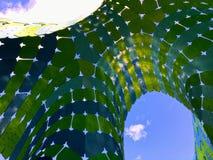 在一个艺术性的水母结构下的凉快的看法在伯顿 免版税库存照片