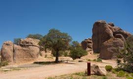 在一个营地的一种奇怪的地质现象在新墨西哥 库存图片