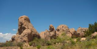 在一个营地的一种奇怪的地质现象在新墨西哥 图库摄影