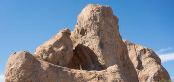 在一个营地的一种奇怪的地质现象在新墨西哥 库存照片