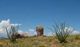 在一个营地的一种奇怪的地质现象在新墨西哥 免版税库存照片