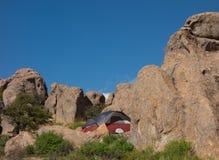 在一个营地的一种奇怪的地质现象在新墨西哥 免版税库存图片