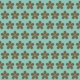 在一个蓝色背景的花 无缝花卉的模式 春天ba 免版税图库摄影