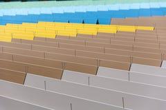 在一个购物中心的五颜六色的屋顶盘区在法兰克福 免版税库存图片