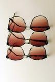 在一个软的焦点倍增Eyewear 免版税库存图片