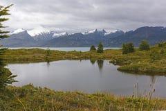 在一个遥远的海岛上的冰河塔恩省 免版税库存图片