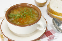 蔬菜汤 免版税图库摄影