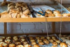 在一个面包店在卡法萨巴 免版税库存图片