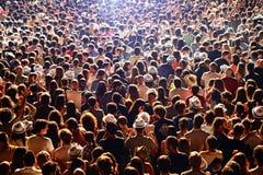 在一个音乐会的人群在Dcode节日 免版税库存照片