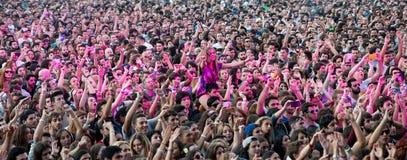 在一个音乐会的人群在Dcode节日 图库摄影