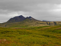 在一个风景的看法在Skaftafell 免版税库存图片