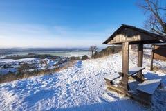 在一个晴天的冬天横向 图库摄影