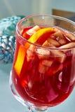 在一个玻璃杯子的热的被仔细考虑的酒 免版税图库摄影