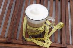 在一个玻璃杯子的饮食咖啡 库存照片