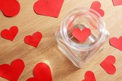 在一个玻璃瓶子的偏僻的心脏-系列2 免版税库存照片
