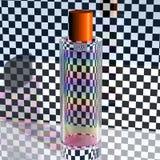 在一个玻璃瓶的彩虹 库存照片