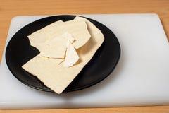 在一个黑色的盘子01的Merengue 免版税库存照片