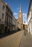 在一个Neo-Gothic教会的视图,第19。 世纪 免版税库存照片