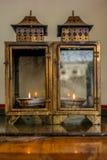 在一个Thaoist寺庙的灯笼在南丫岛上 免版税库存照片