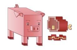 立方体猪 免版税库存照片