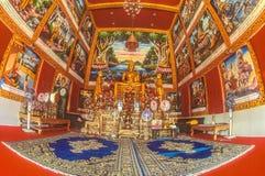 在一佛教wat里面在泰国 免版税库存图片