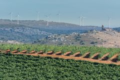 在一农村的经济资源在萨莫拉省的北部在西班牙,例如与depopulatio的战斗 库存照片