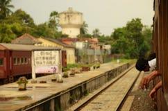 在一列火车外面的看法在斯里兰卡 库存照片