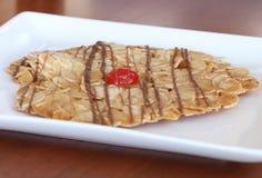 在一块白色板材的佛罗伦丁的燕麦饼干 库存照片