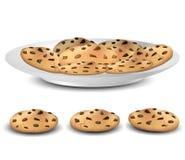 在板材的曲奇饼 免版税图库摄影