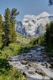 在一堆山河以后 Altai,西伯利亚 库存图片