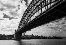 在一多云天期间,悉尼桥梁  库存图片