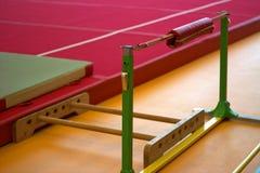 在一家体操俱乐部的体操设备 免版税图库摄影