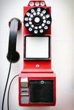 在一家旅馆里显示的一个古色古香的电话在北京 免版税库存图片
