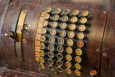 葡萄酒老收款机 免版税库存图片