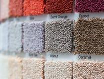 在一家零售店的地毯显示 免版税库存图片