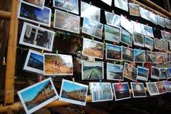在一射击的多张明信片 免版税库存图片