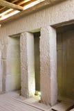 在一座古庙里面在吉萨棉 免版税库存图片
