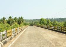 在一座桥梁的路在热带 库存照片