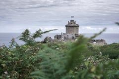 在一座沿海山的城堡 免版税图库摄影