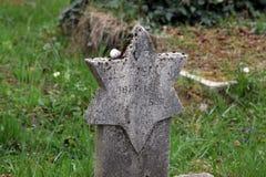 在一座Mirogoj公墓的犹太坟墓在萨格勒布 库存图片