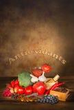 抗氧剂水果和蔬菜 免版税库存图片