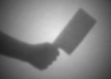在一张透明纸后的剪影,被弄脏 库存图片