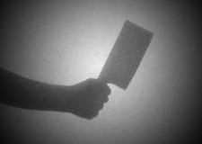 在一张透明纸后的剪影 免版税库存照片