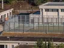 在一所监狱的体育设施在意大利 免版税库存照片