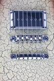 在一把电吉他的桥梁 免版税图库摄影